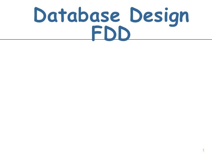 Database Design FDD