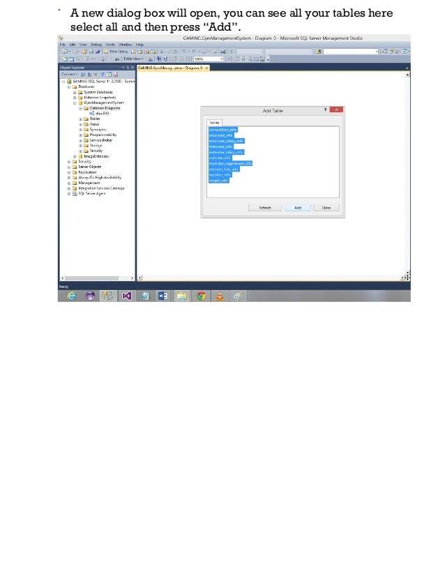 Database diagram tutorial sql server 2012 3 ccuart Choice Image