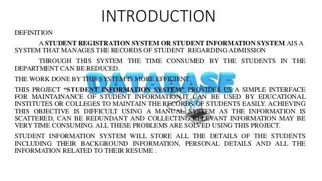 student registration system introduction