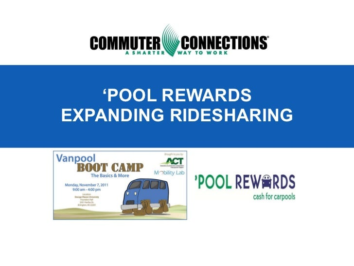 ' POOL REWARDS EXPANDING RIDESHARING