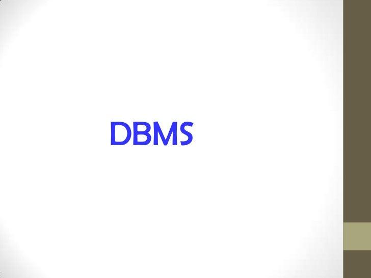 DBMS<br />