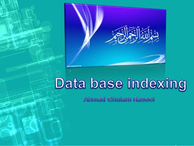 • A database index is a data structure that improves the speed of data retrieval operations on a database table at the cos...