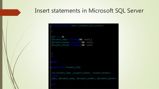 Database management system sql beginner training insert statements in microsoft sql server 22 update statement update table tablename ccuart Image collections