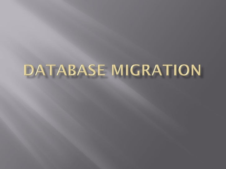 Database migration is the transferring of data between storagetypes, formats, or computer systems. Database migration isus...