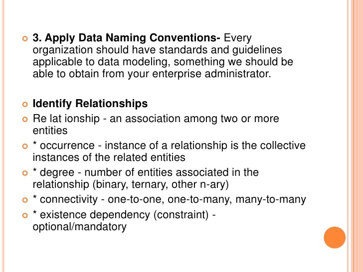 entity attribute relationship conventions and more
