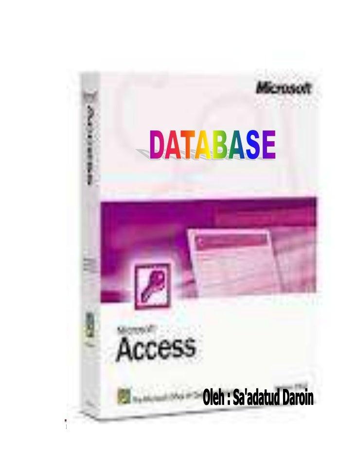 DB Ms. Access – Sa'adatud Daroin/093224006   Page 1