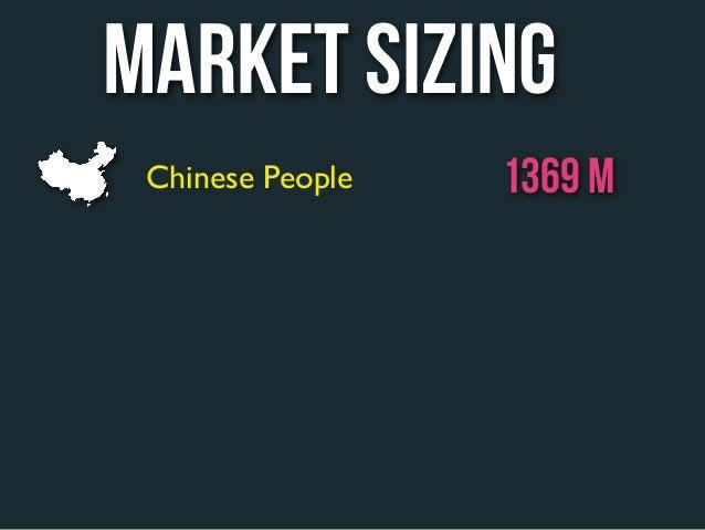 market sizing Chinese People   1369 M