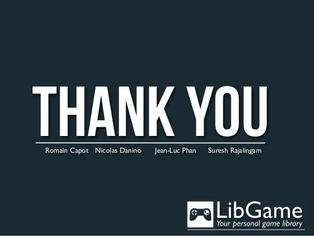 THANK YOURomain Capot Nicolas Danino   Jean-Luc Phan   Suresh Rajalingam