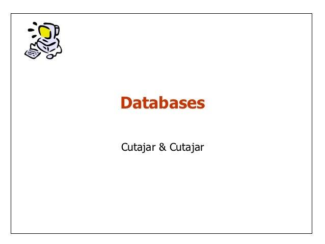 DatabasesCutajar & Cutajar