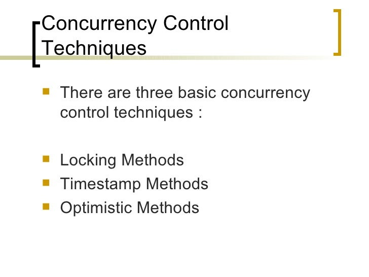 CONCURRENCY CONTROL TECHNIQUES EBOOK DOWNLOAD