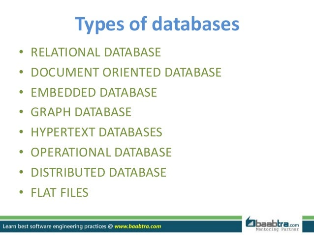 different types of dbms Relationships:types of relationships in databases database management systems computer science database management.