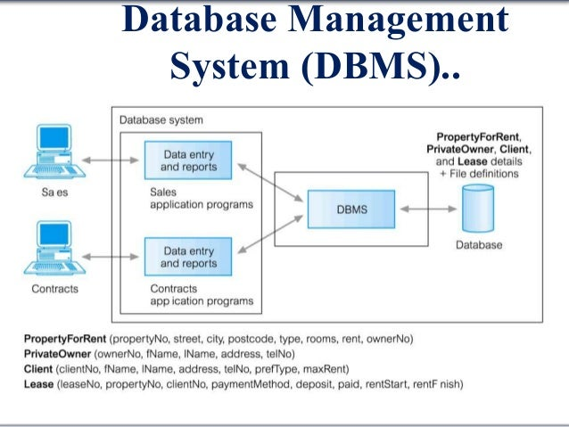 database system Database system contains complete definition of structure and constraints.
