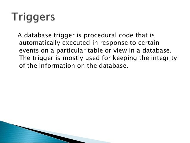 procedural code is executed on the database client machine