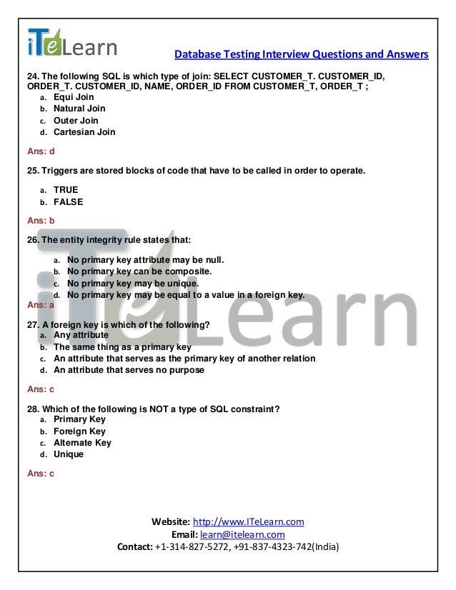 Database Testing, SQL Testing, Backend Testing or ETL ...