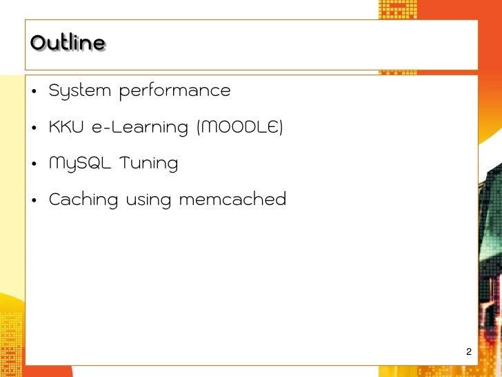 Database Tuning for e-Learning Slide 2