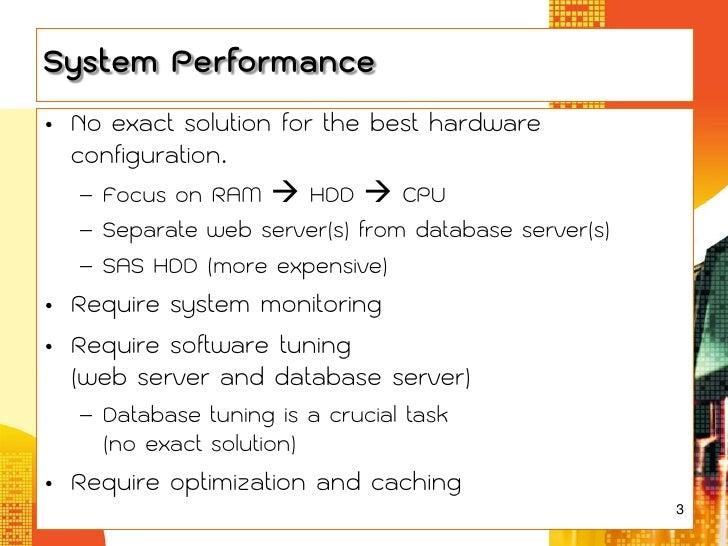 Database Tuning for e-Learning Slide 3