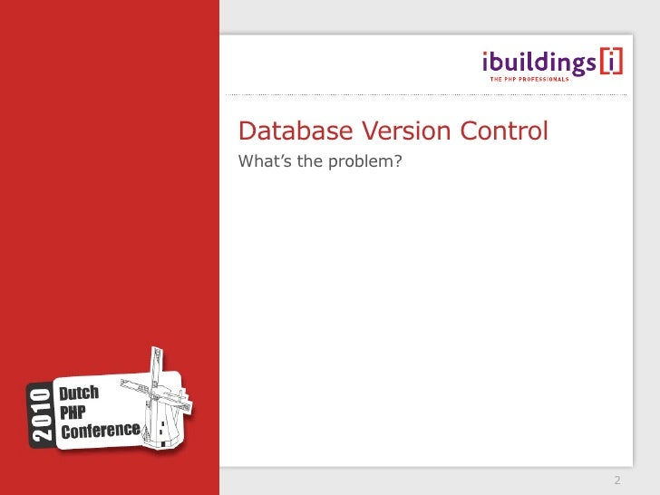 Database version control DPC version Slide 2