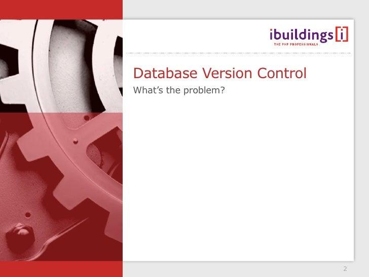 Database version control - pf congres version Slide 2