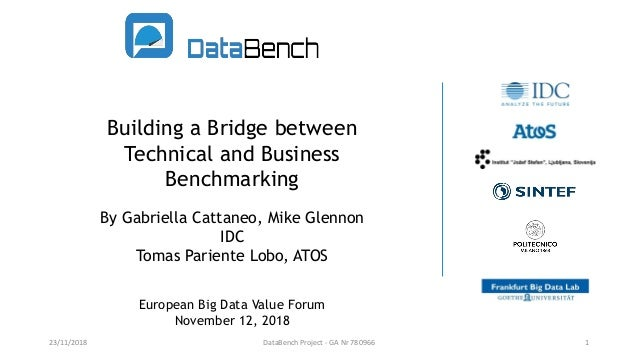 Building a Bridge between Technical and Business Benchmarking By Gabriella Cattaneo, Mike Glennon IDC Tomas Pariente Lobo,...