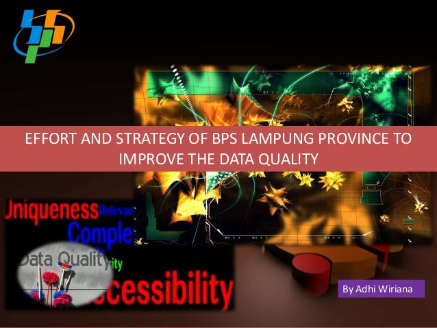 EFFORT AND STRATEGY OF BPS LAMPUNG PROVINCE TO IMPROVE THE DATA QUALITY  By Adhi Wiriana