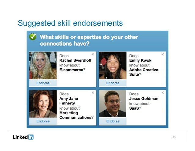 Suggested skill endorsements                               23
