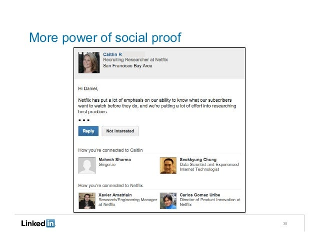 More power of social proof        …                             30