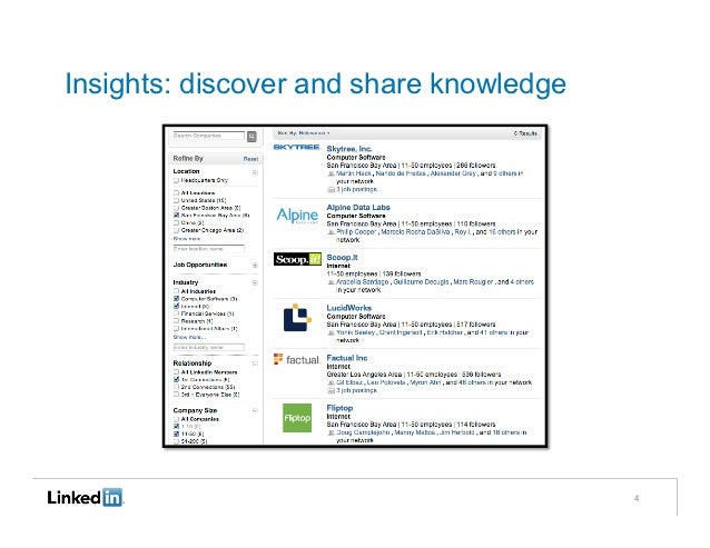 Insights: discover and share knowledge                                         4