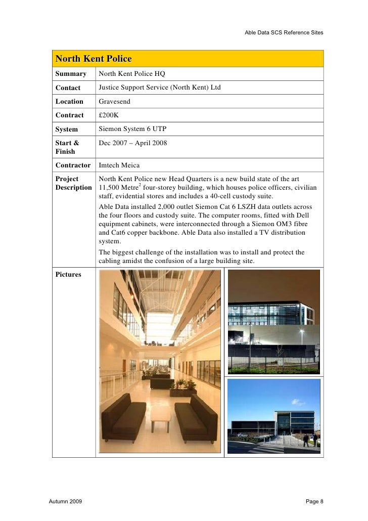Able Data SCS Reference Sites  Bucks New University (BNU)  Summary      Installation of Data & Voice Cabling over 13 Floor...