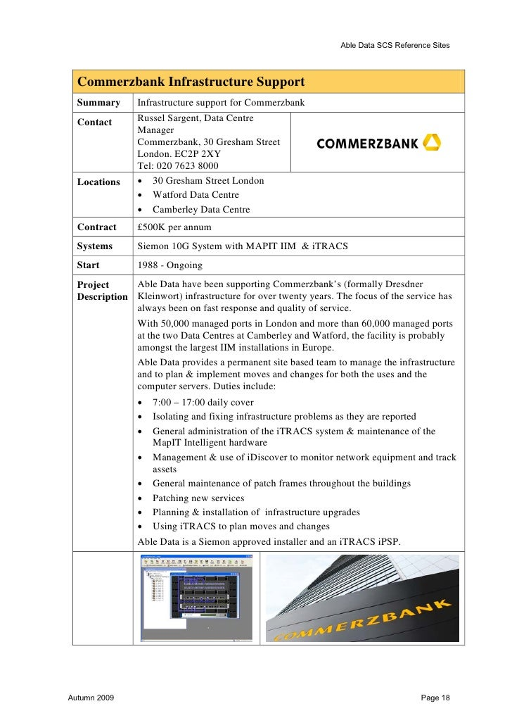 Able Data SCS Reference Sites  Debenhams  Summary       Data Cabling for new and refurbished Department Stores  Contact   ...