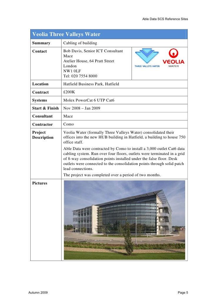 Able Data SCS Reference Sites  Johnson & Johnson  Summary       Johnson & Johnson Pinewood Building, Wokingham  Contact   ...