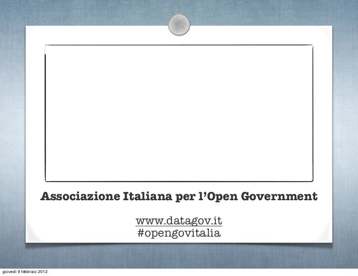 Open Data: cosa dicono le leggi? Slide 2