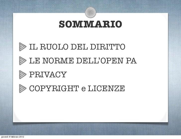 Open Data: cosa dicono le leggi? Slide 3