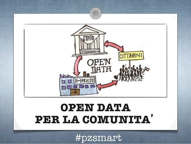 OPEN DATA ! PER LA COMUNITA'  #pzsmart