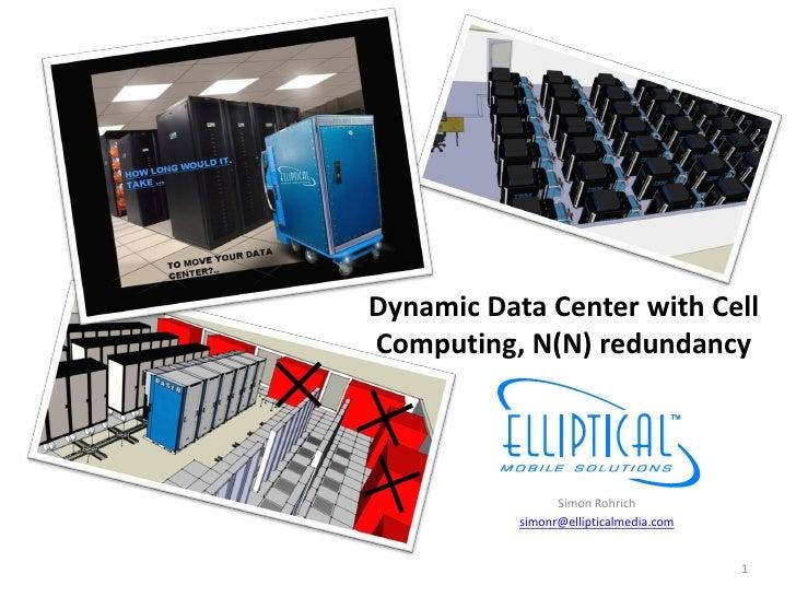 Dynamic Data Center with Cell Computing, N(N) redundancy                     Simon Rohrich            simonr@ellipticalmed...