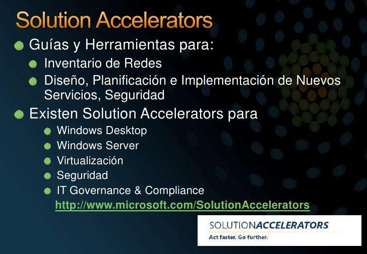 SolutionAccelerators<br />Guías y Herramientas para:<br />Inventario de Redes<br />Diseño, Planificación e Implementación ...