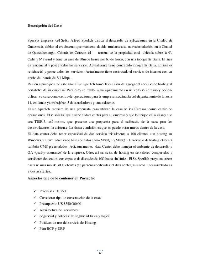 12 Descripción del Caso SperSys empresa del Señor Alfred Sperlich dicada al desarrollo de aplicaciones en la Ciudad de Gua...