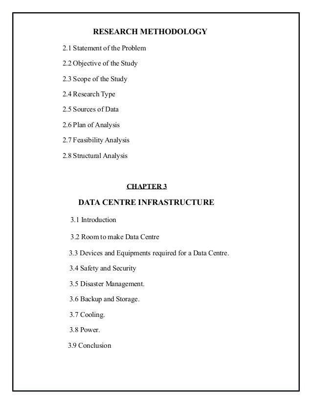Project Report On Data Center Management