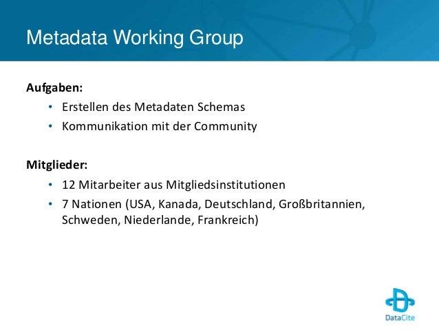 DataCite Metadatenschema v3.0 - DataCite 2014 Slide 2