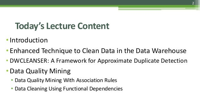 Data Cleaning Techniques Slide 2