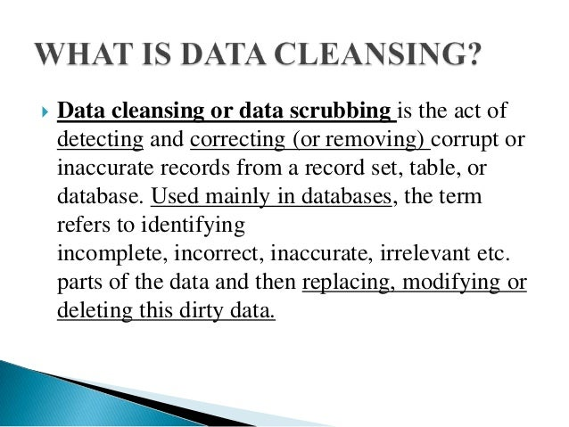 data cleaning in data mining pdf