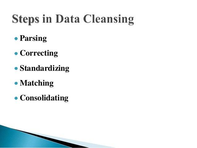 ParsingCorrectingStandardizingMatchingConsolidating