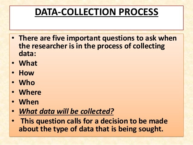 the importance of data collection Developing an understanding of the collection and usage of marketing data can  help you create competitive campaigns learn how your company can benefit.