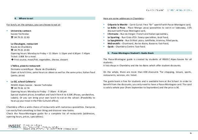 G- EXTRA-CURRICULAR SPORT & LEISURE FACILITIES 1. Extra-curricular activities and leisure facilities INSEEC Alpes-Savoie o...
