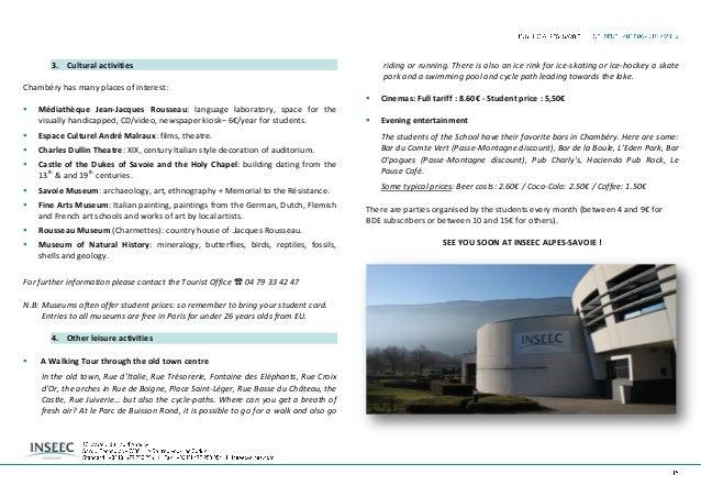 INSEEC Alpes-Savoie Data collection inseec_student handbook erasmus 201314