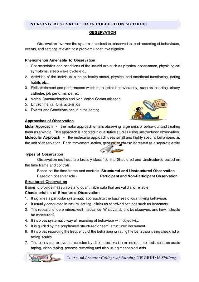 Data Collection Methods - Nursing Research