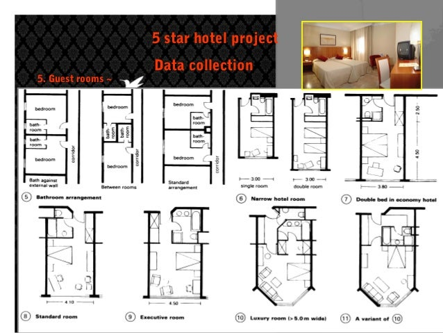 Data collection of five star hotel for Design guide for hotels