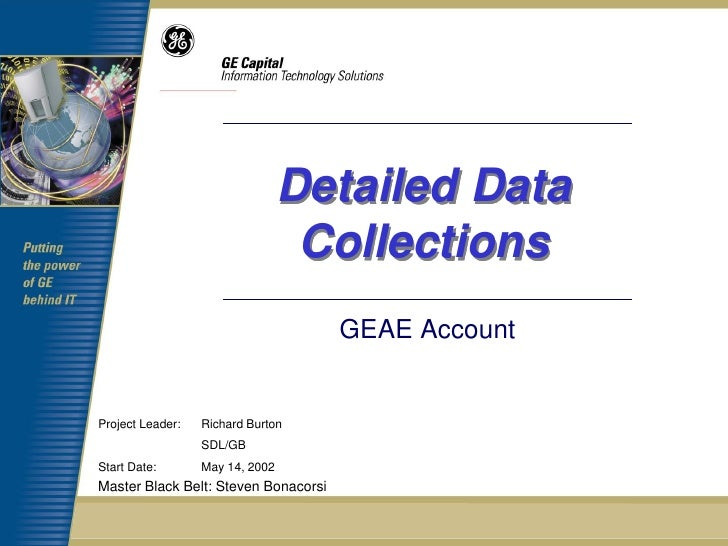 Detailed Data                                  Collections                                      GEAE AccountProject Leader...