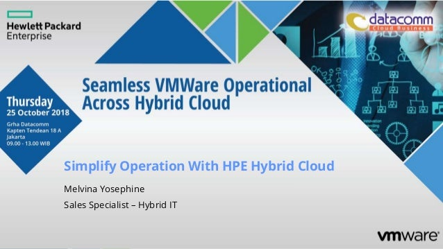 Simplify Operation With HPE Hybrid Cloud Melvina Yosephine Sales Specialist – Hybrid IT