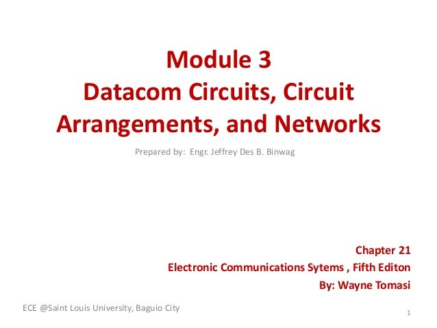 Module 3 Datacom Circuits, Circuit Arrangements, and Networks Chapter 21 Electronic Communications Sytems , Fifth Editon B...
