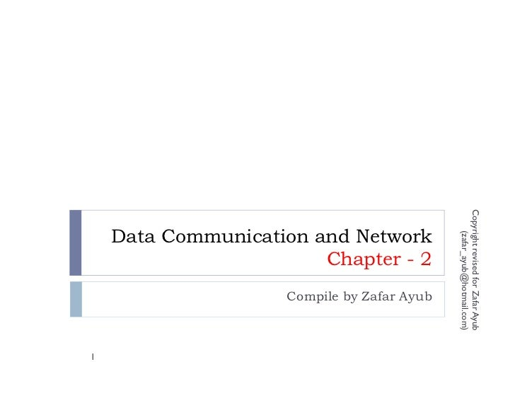 Copyright revised for Zafar Ayub    Data Communication and Network                                                (zafar_a...